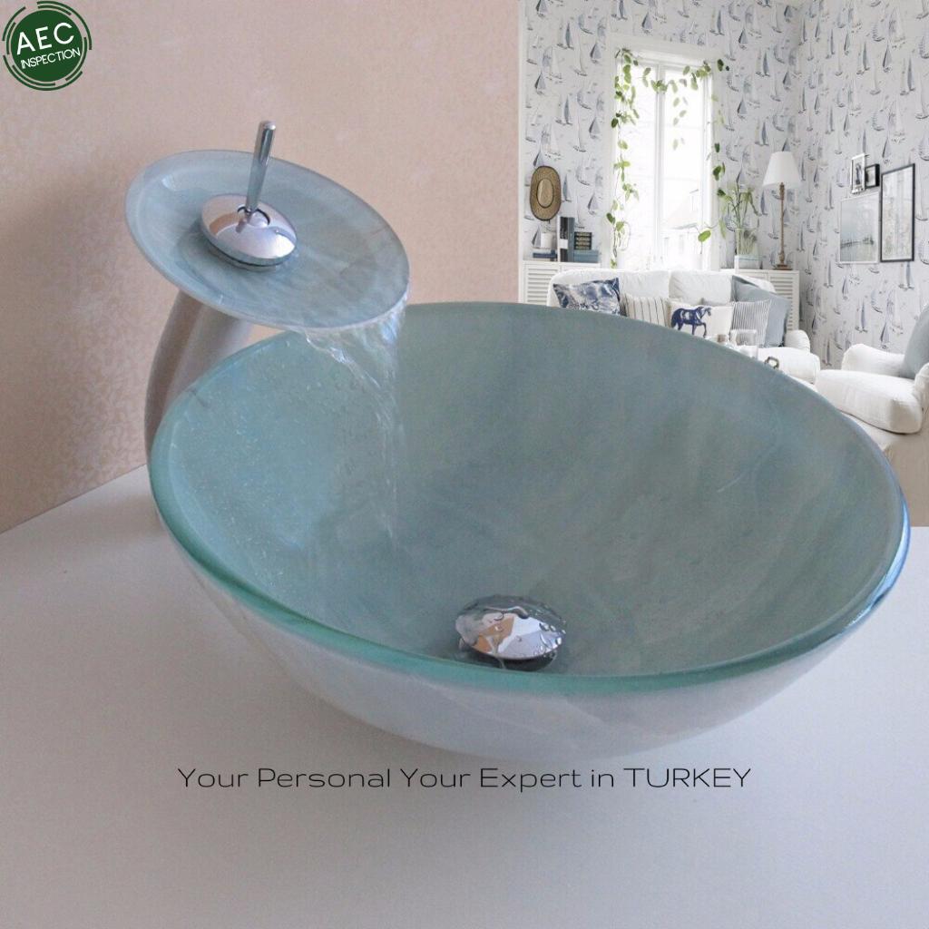 19mm glass sink made in turkey